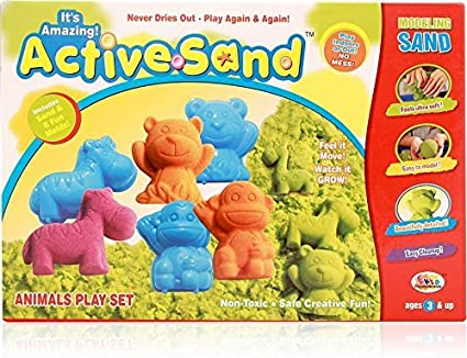 House Of Gifts Toys Active Sand Animals - Multi Color and Mini Foldable Pocket Size Magnetic Travel Chess Set Board Game