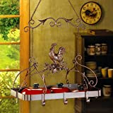 rooster pot rack - Rooster Hanging Pot Rack by Zingz & Thingz