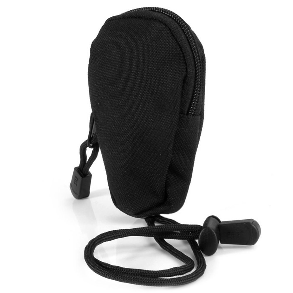 VORCOOL Mini Carrying Bag Portable Travel Coins Purse Change Wallet Key Pouch with Built-in Key Ring for Outdoor Exercises (Black)
