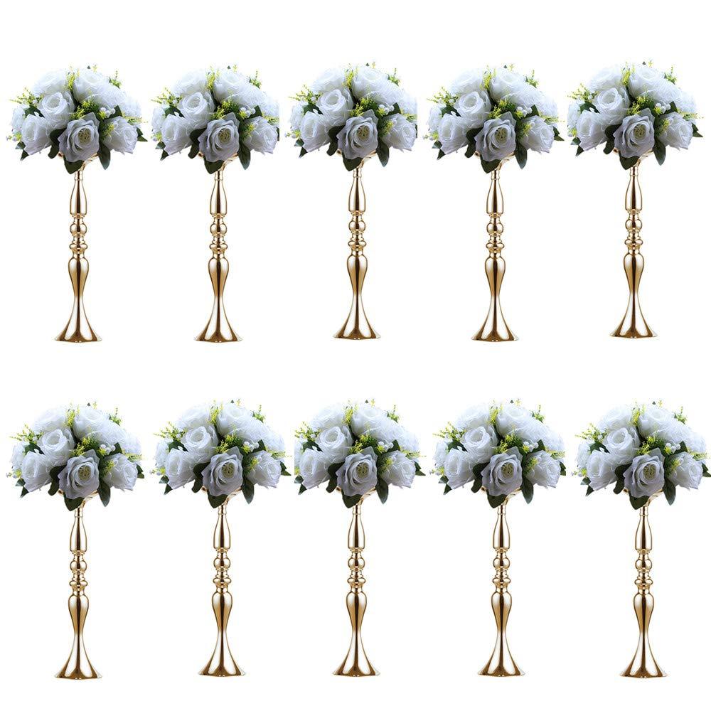 Sfeexun 10Pcs Versatile Metal Flower Arrangement, Candle Holder Stand Set Candlelabra for Wedding Party Dinner Centerpiece Event Restaurant Hotel Decoration by Sfeexun (Image #1)