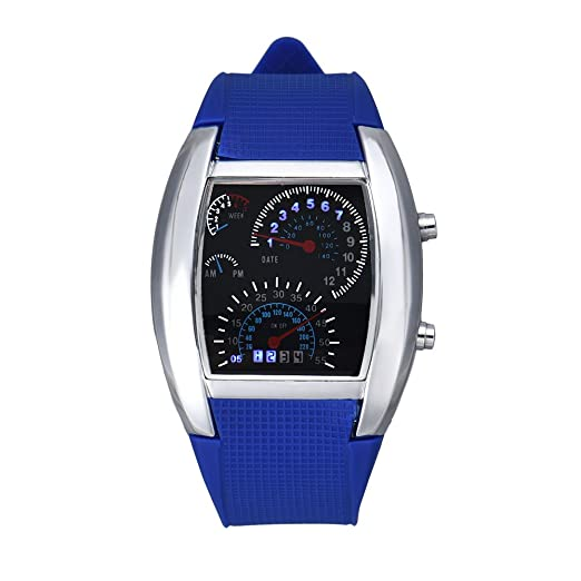 SKY De Moda De La Aviación Turbo Dial Flash LED Reloj De Regalo Mens Señora Deporte
