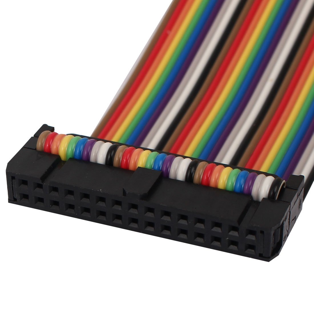 Cable conector IDC eDealMax Plana Color del arco iris de la Cinta, F/M, 50 cm, 30 Pines, 30 Camino de bricolaje, 2 piezas