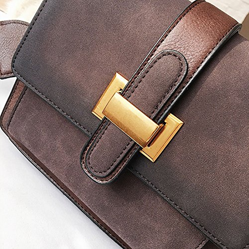 ZCM Frauen neue weibliche Tasche Handtasche kleine beiläufige Umhängetaschen Crossbody Umhängetasche Arbeit Shopping Travel Geldbörse für Damen-3 Farbe Optional Dunkelbraun