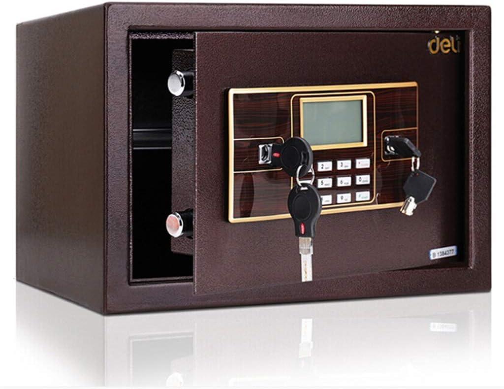 DSHUJC Caja de Seguridad, Caja Fuerte electrónica para el hogar de 25 cm con código y Llaves de anulación de Emergencia, gabinete montado en la Pared o en el Piso, CAJ: Amazon.es: