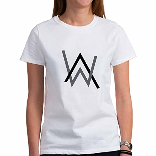 aafe1d71c Amazon.com: Tshirt For Woman Alan Walker Logo White Size L: Clothing