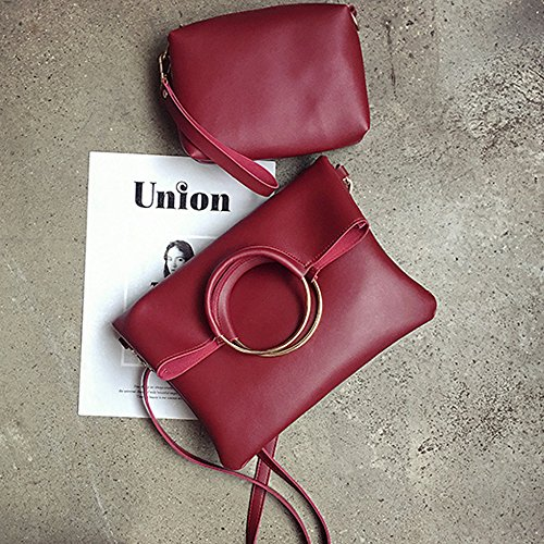 Red Bag Bags Bags Shoulder for Handbags Handle Women Handle Hoop Tote Top Women 7f6zZgqz