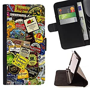 DEVIL CASE - FOR Sony Xperia Z3 D6603 - Product Design Tags Colorful Modern Art - Style PU Leather Case Wallet Flip Stand Flap Closure Cover