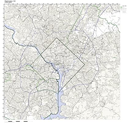 Amazon.com: Washington, DC ZIP Code Map Laminated: Home & Kitchen