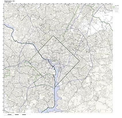 Dc Zip Code Map Amazon.com: Washington, DC ZIP Code Map Not Laminated: Home & Kitchen Dc Zip Code Map