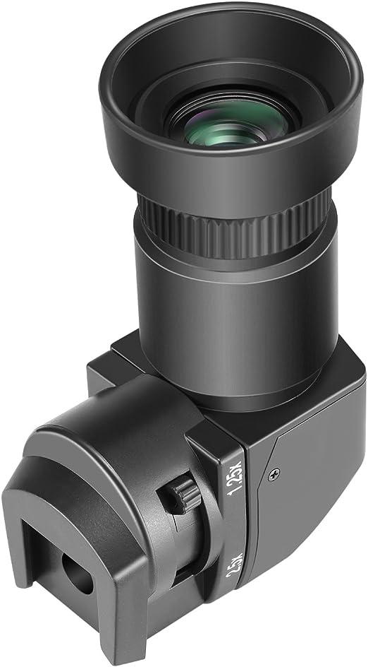 Neewer 1,25x-2,5x Visor de ángulo recto con 8 adaptadores de ...