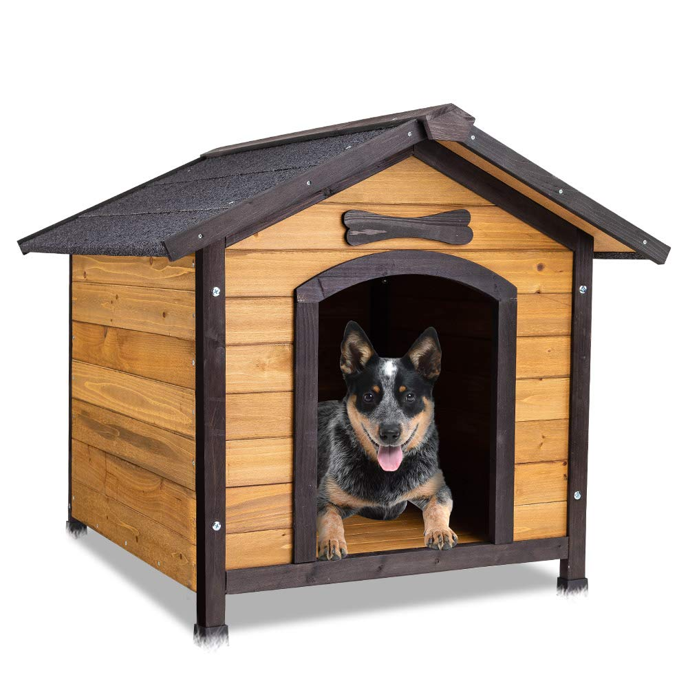 N A NeataPet Dog Kennel in Classic Wooden Design