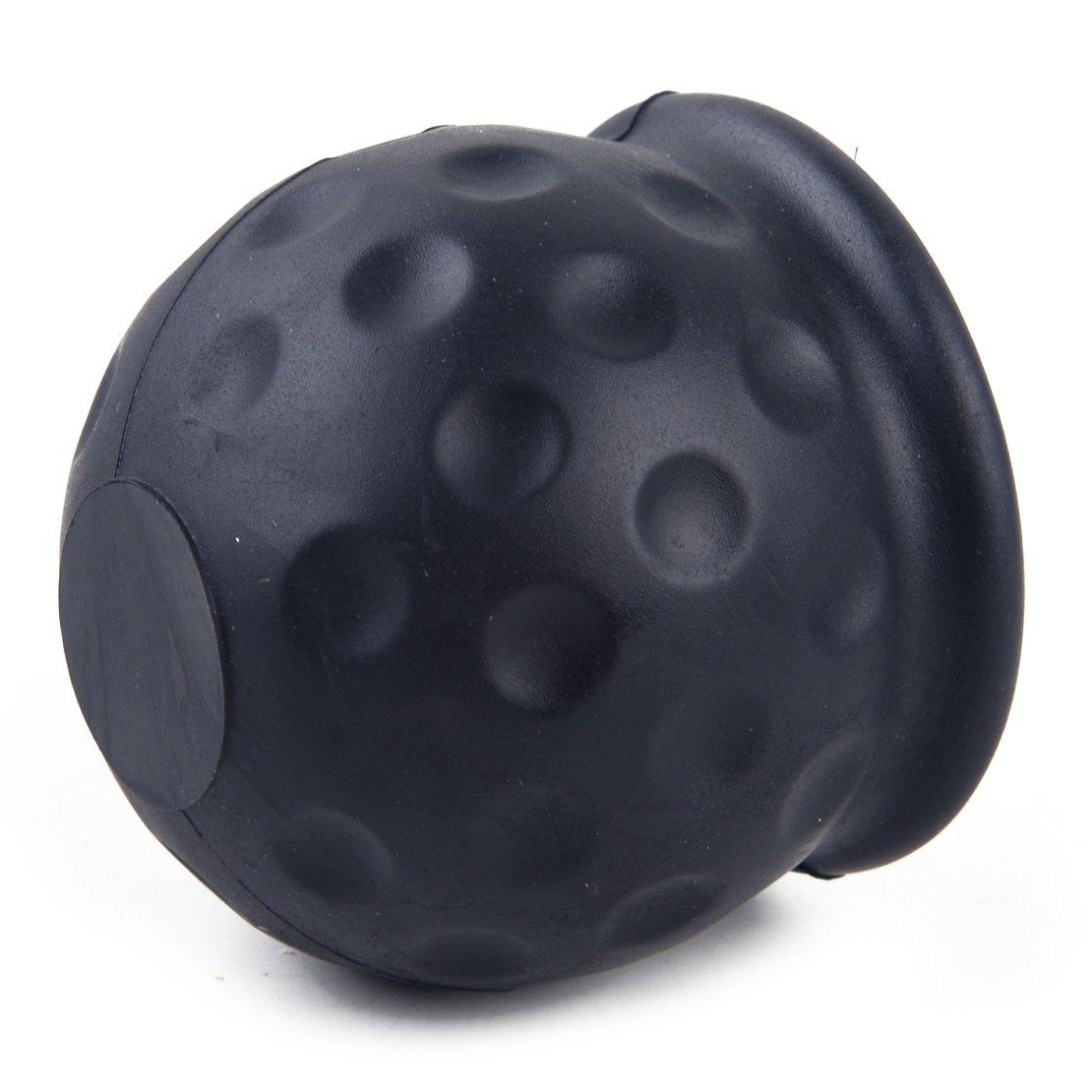 beler Car Rubber Black 50mm Tow Ball Towball Protector Cover Cap Hitch Caravan Trailer hermeshine