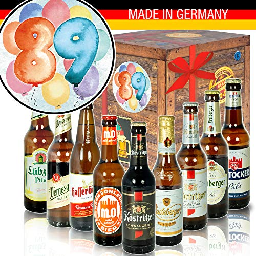89. Geburtstagsgeschenk – Geschenkbox – Bier – Ostdeutsche Biersorten