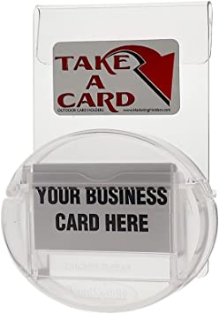 Blue Magnetic Card Caddie Vehicle Outdoor Business Card Holder Display Disc