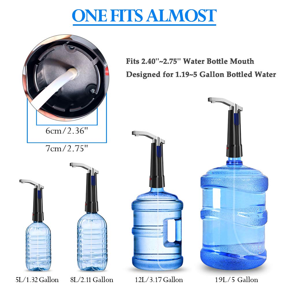Water Pump Dispenser BMK Electric Gallon Drinking Bottle Water Dispensing Pump with On/Off Switch & Touch Button 2 Working Modes for Home Kitchen Office by BMK BLUEMICKEY (Image #7)