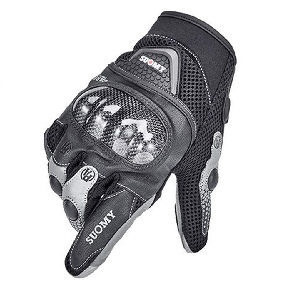 SAMFYALL Guantes de Motocicleta Pantalla T/áctil Dedos Completos Transpirables Y C/ómodos para Ciclismo Carreras Senderismo Verano Guantes de Ciclismo