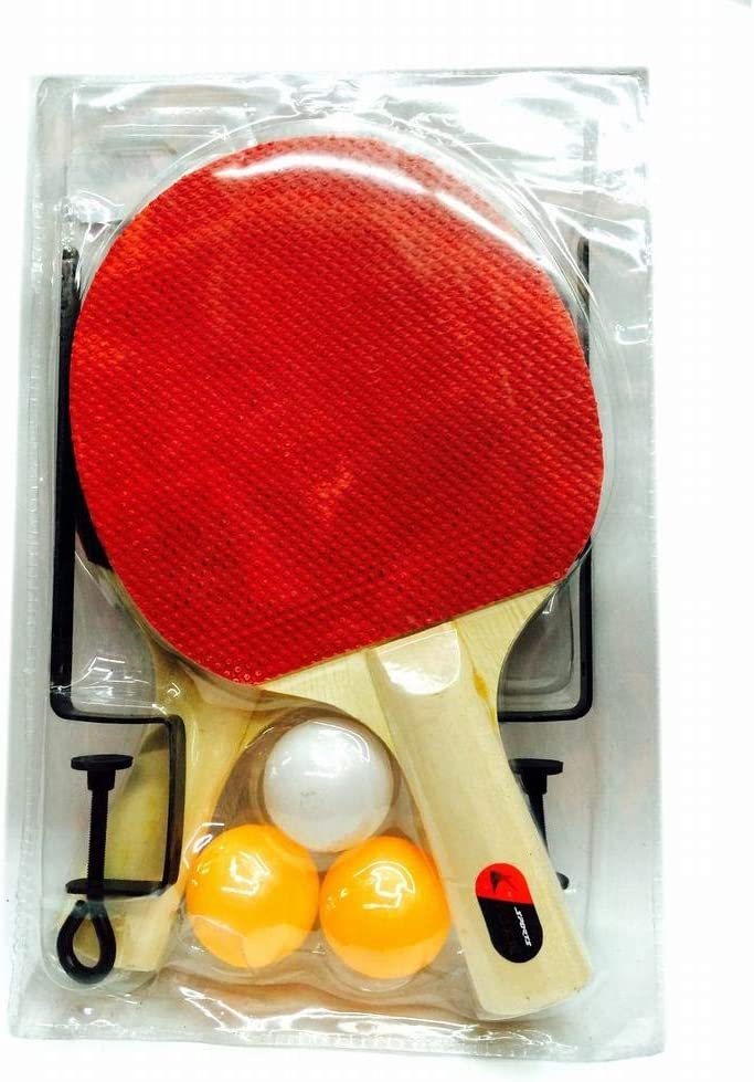 KDXBCAYKI Enviar 3 Pelotas, 1 Subred, 1 Subred, Raqueta De Tenis De Mesa, Tarjeta De Bofetada, Mesa De Ping-Pong, Raqueta De Tenis De Mesa