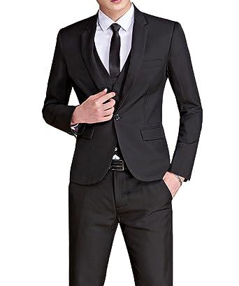 Wenliu Men Suits 2 Pieces Prom Dress Slim Fit Casual Wedding Suit ...