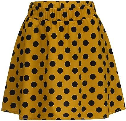 Vestido de verano para mujer, falda con puntos, cintura alta ...