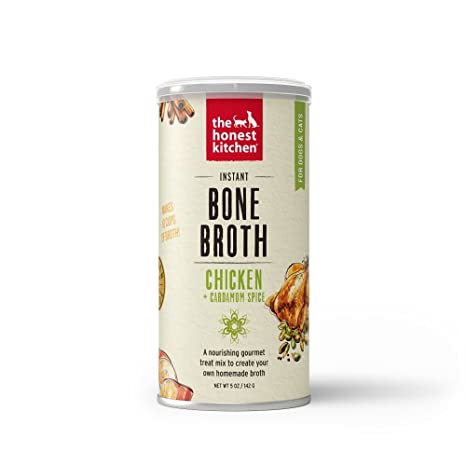 Honest Kitchen Chicken Bone Broth With Cardamom For Dogs Cats 5 Oz