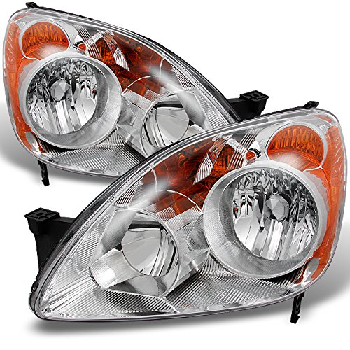 Honda CRV UK Built Models Clear Headlights Driver Left + Passenger Right Side Replacement Pair Set