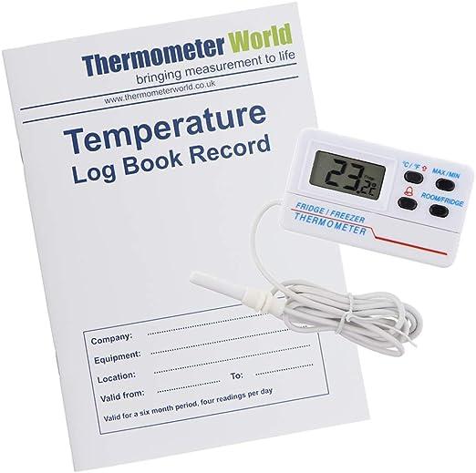 Libro de registro de temperatura con termómetro digital para ...
