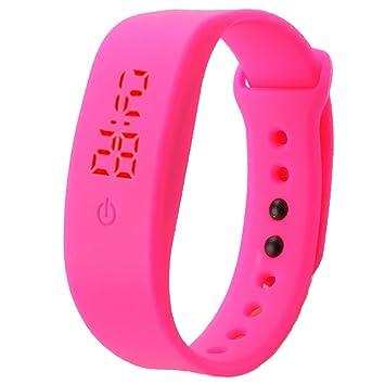Sannysis® Goma Reloj LED Fecha Deportes Pulsera; Digital Reloj de Pulsera (Rosa Caliente): Amazon.es: Deportes y aire libre