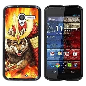 Stuss Case / Funda Carcasa protectora - Wolf Warrior - Motorola Moto X 1 1st GEN I