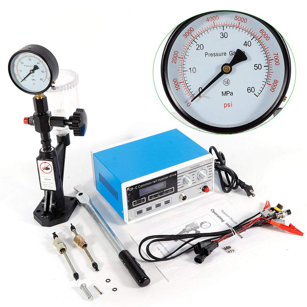 Full Set CR-C+S60H Nozzle Diesel Common Rail Injector Tester Tool for S60H