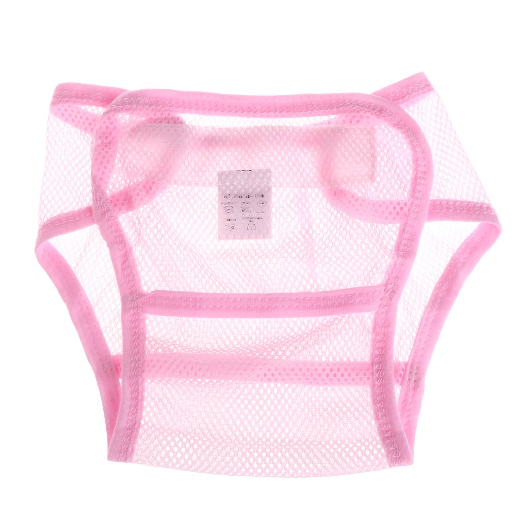 Poity Baby Diapers Reusable Nappies Cloth Diaper Washable mesh Pocket Nappy Newborn Summer Breathable Diapers Infant Cotton Liner Pink S: 36x27.5x16cm/14.17x10.83x6.30
