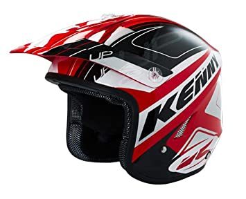 Casco Trial Kenny Trial Up Graphic Rojo Negro