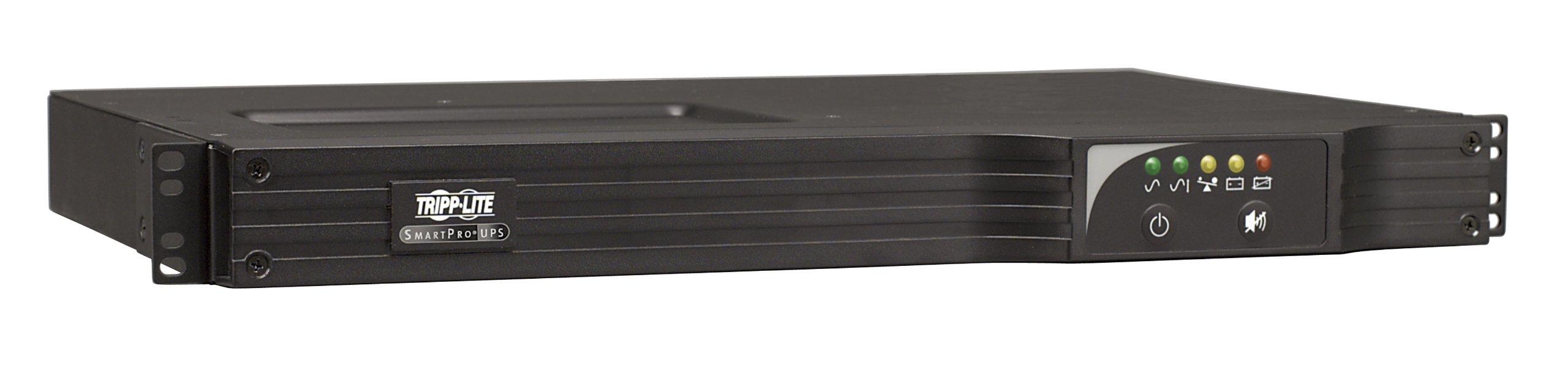 Tripp Lite 1000VA Smart UPS Back Up, Sine Wave, AVR, 120V 800W Line-Interactive, 1U Rackmount, USB, DB9, ENERGY STAR (SMART1000RM1U)