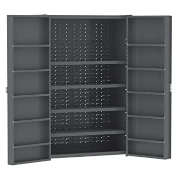Akro Mils HD4824 A Heavy Duty Steel Storage Cabinet With Shelves, 48u0026quot; W