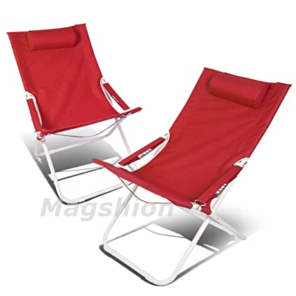 Amazon.com: magshion silla plegable de playa camping Patio ...