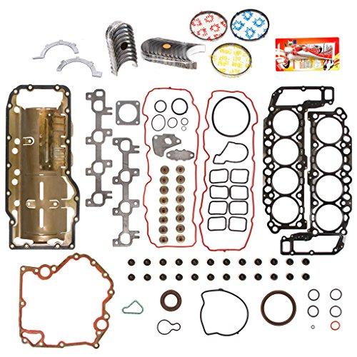 Domestic Gaskets Engine Rering Kit FSBRR8-30401EVE\2\0\0 04-07 Dodge Durango Dakota Jeep Mitsubishi 4.7 SOHC Full Gasket Set, Standard Size Main Rod Bearings, 0.50mm / 0.020