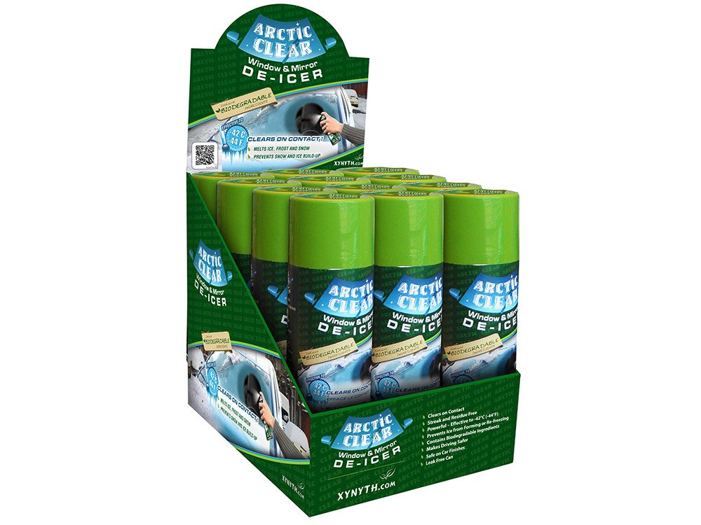 Arctic CLEAR Window & Mirror De-icer™ 500 g Can (Cases of 12) Xynyth Manufacturing Corp.