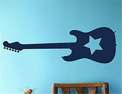 pegatina de pared 3d pegatina de pared frases RockStar Guitar Music ...