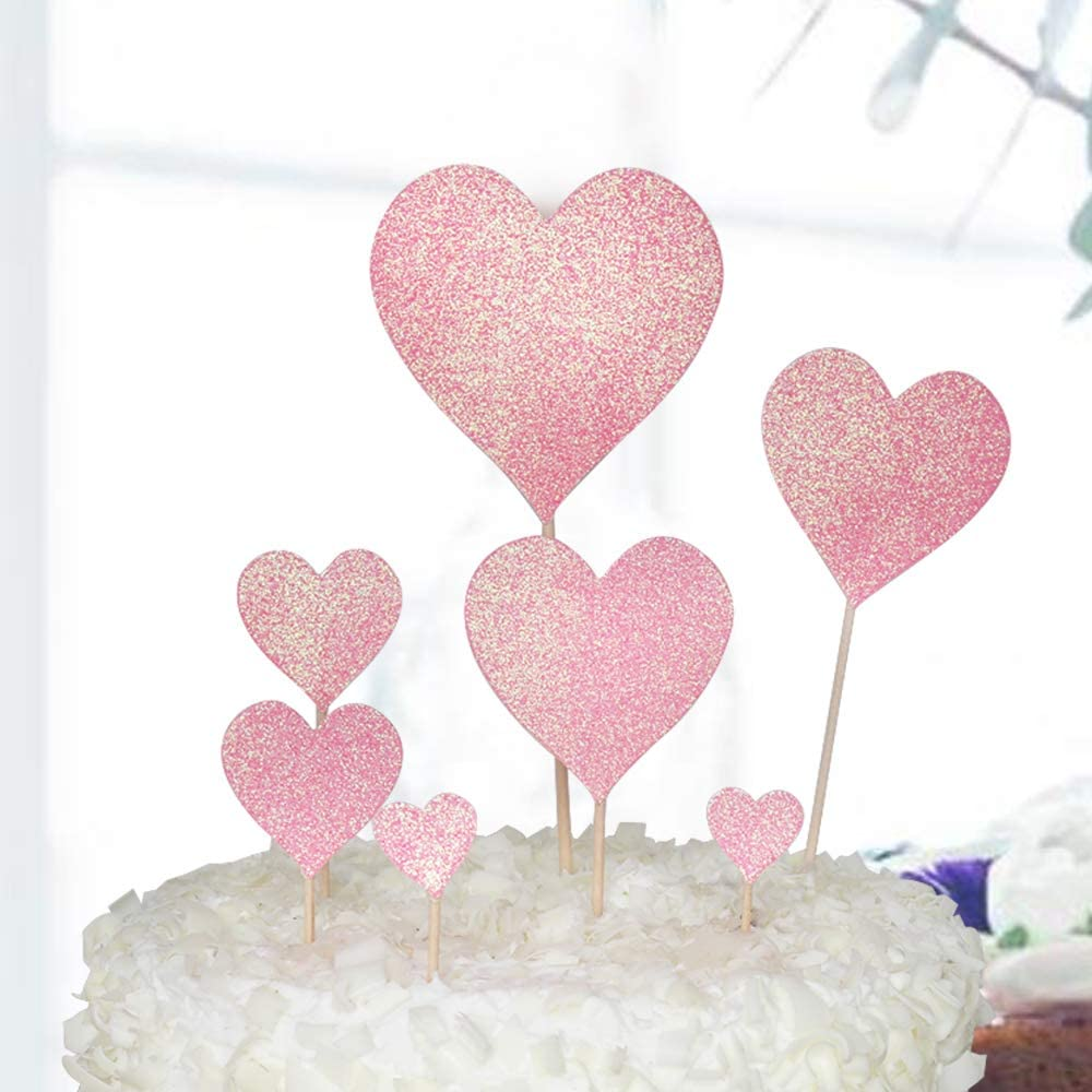 24 icing cake toppers decorations red rose images love valentines wedding