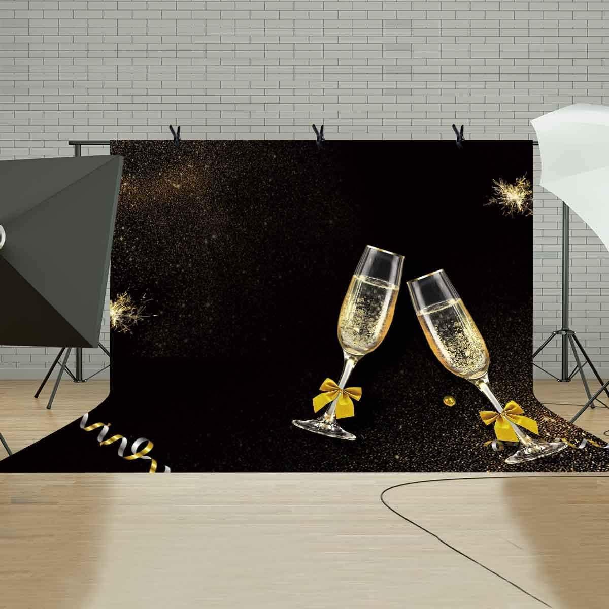 GoHeBe Glass Backdrop Photo Studio Photography Background Props Party Photo Photography Props 10x7ft LYLS015