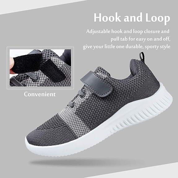 STQ Zapatillas deportivas ligeras para niños y niñas, color Gris, talla 33 EU: Amazon.es: Zapatos y complementos