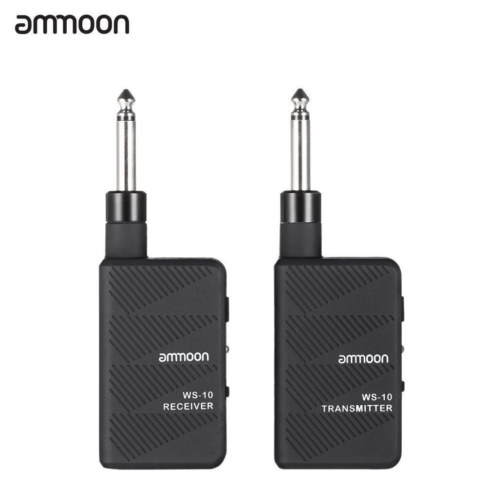ammoon WS-10 Digital 2.4Ghz Audio Wireless Electric Guitar Transmitter Receiver Set