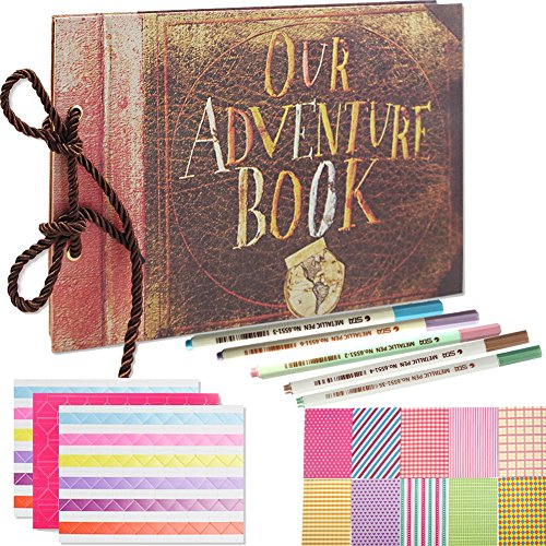 SAIKA Our Adventure Book Pixar Up Handmade DIY Family Scrapbook Album with DIY Accessories Kit ()