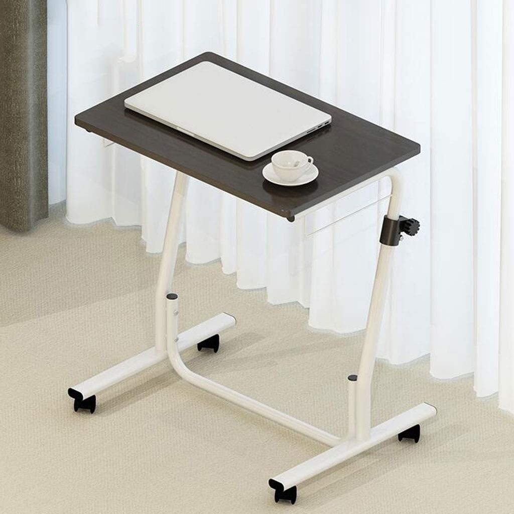 Size : 60cm XSWZAQ Folding Laptop Table Black with Adjustable Height and Tilt Angle Portable Gaming Computer Desk Tablet Stand Tray Bedside Sofa Armchair Crafting Jigsaw