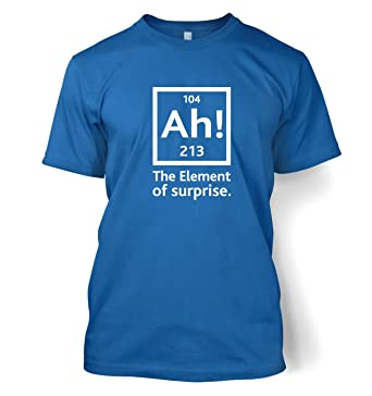 17c37c03b Ah! The Element Of Surprise T-shirt - Science Geek Tshirt - Royal Small