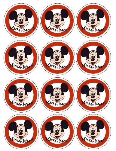 Single Source Party Supply - Mickey Mouse Cupcakes Edible Icing Image #4