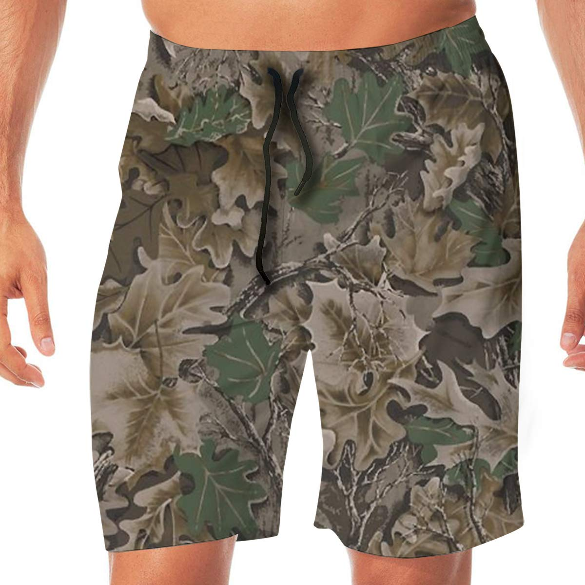MaoYTUI Realtree Camo Wallpapers Mens Swim Trunks Boys Quick Dry Bathing Suits Drawstring Waist Beach Broad Shorts Swim Suit Beachwear with Mesh Lining
