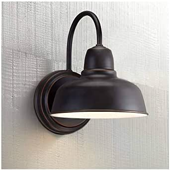 "Rustic Outdoor Wall Light Fixture Bronze 11 1/4"" Urban Barn Farmhouse for Exterior House Porch Patio - John Timberland"