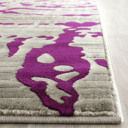 Safavieh Porcello Collection PRL7735B Light Grey and Purple Area Rug 3 x 5