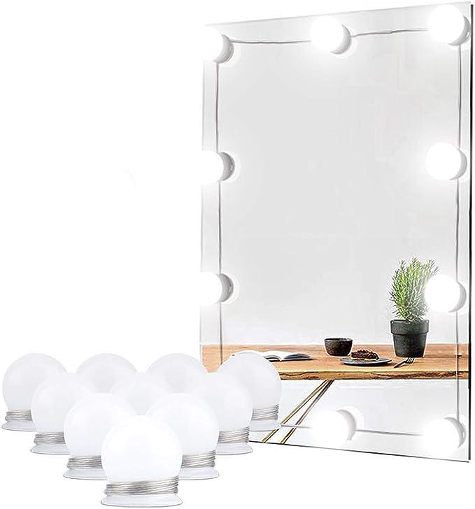 Redlemon Luces LED para Espejo de Maquillaje Autoadheribles, 3 Modos de Iluminación: Luz Blanca, Cálida y Neutral, con Control de Intensidad, Conexión USB, Longitud Ajustable, Estilo Hollywood: Amazon.com.mx: Hogar y Cocina
