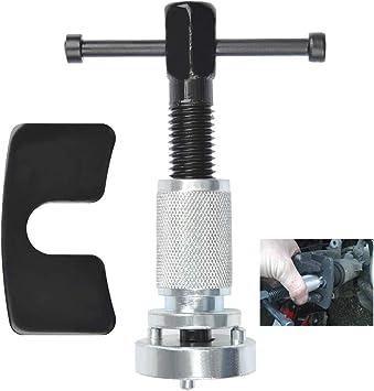 Thread Wind-back Tool Set Handle Brake Piston Tool for Replacement of Rear Brake Pads Brake Plates Brake Discs QLOUNI 3pcs Universal Brake Caliper Piston Rewind Tool Kit